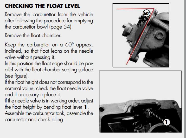 Float Level PWK Short Body - JD Jetting